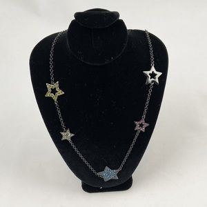 Coach Sparkly Stars Necklace